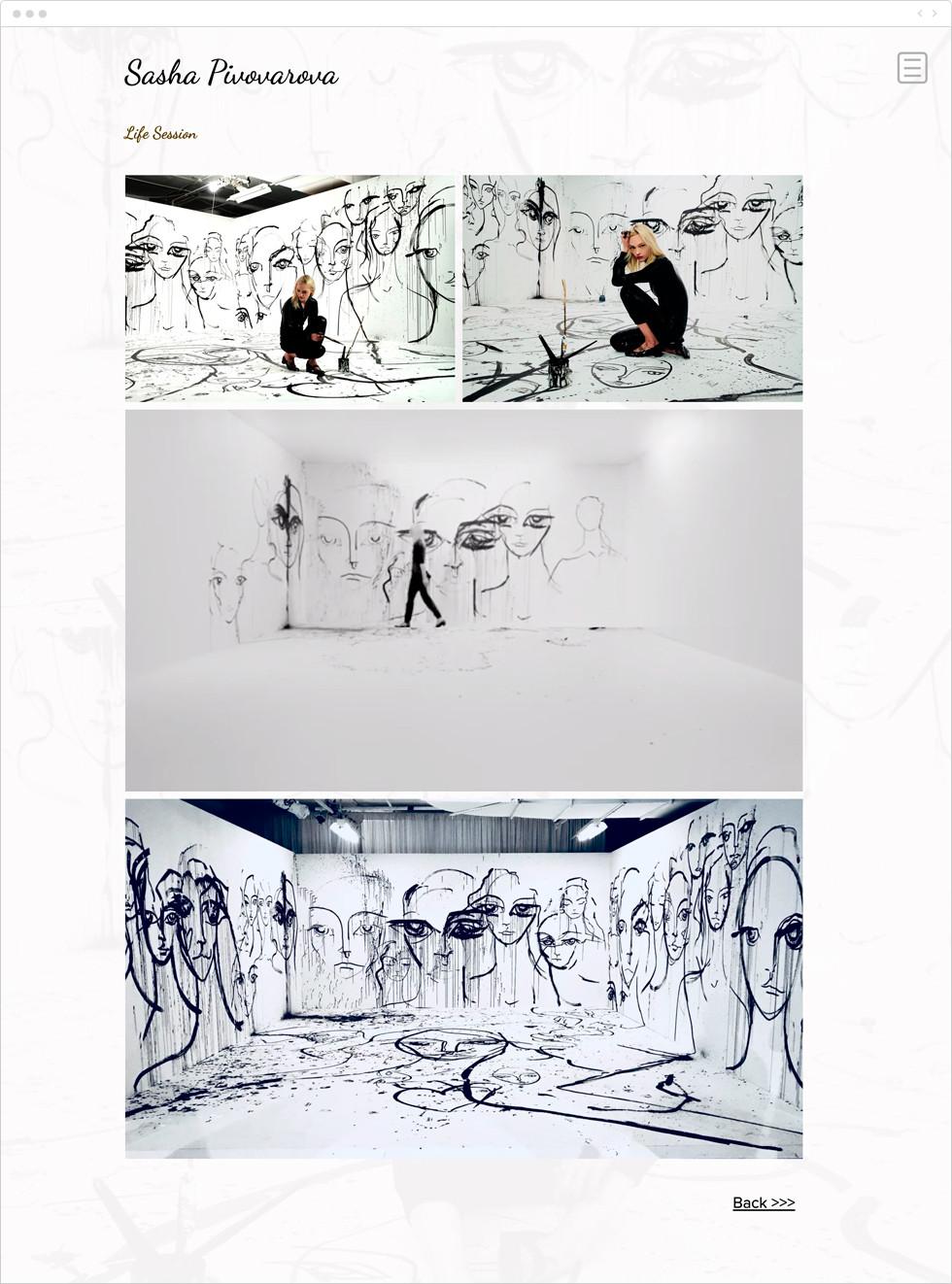 Exemple de portfolio - Sasha Pivovarova