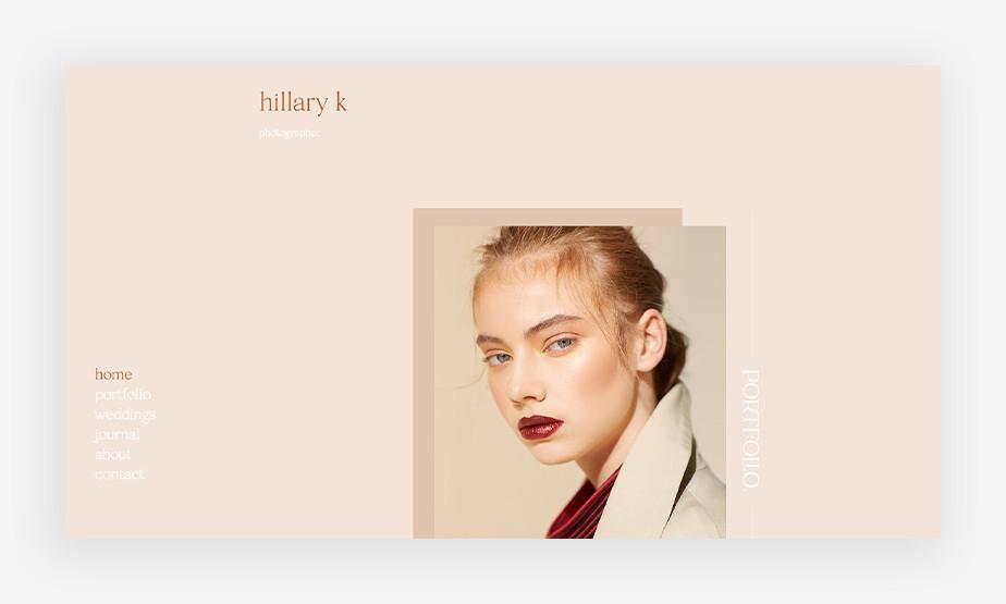 아름다운 웹사이트 레이아웃으로 시선을 사로잡는 힐러리의 웹사이트