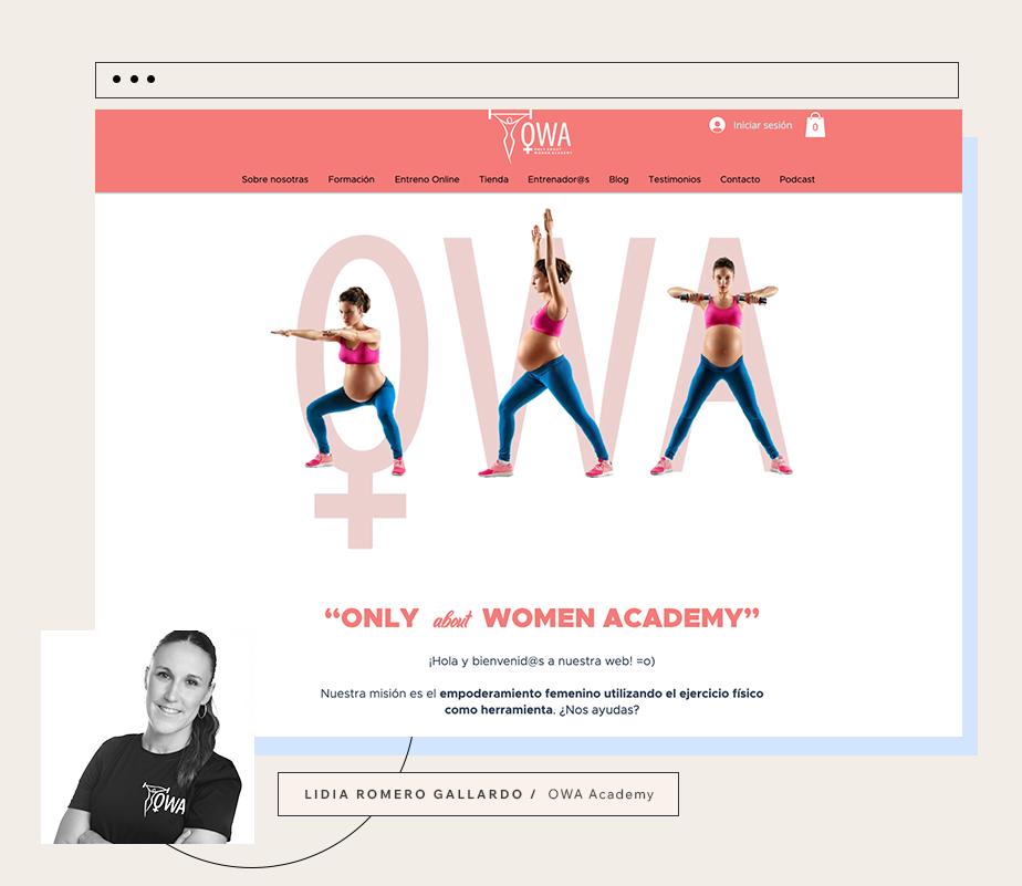 OWA AcademyのプロフェッショナルトレーナーLidia Romeroさんのホームページ