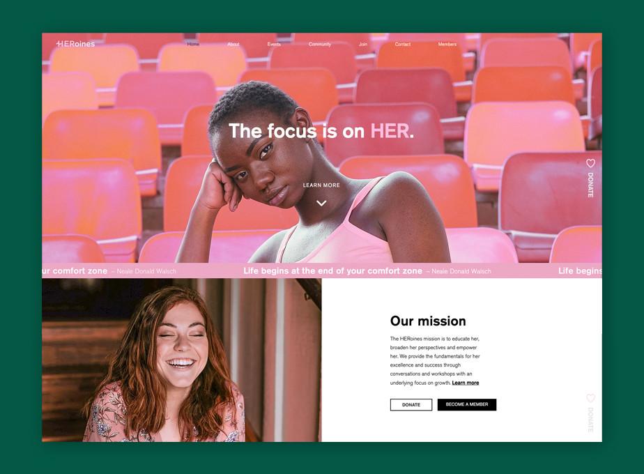 Best website design by HERoines Inc.