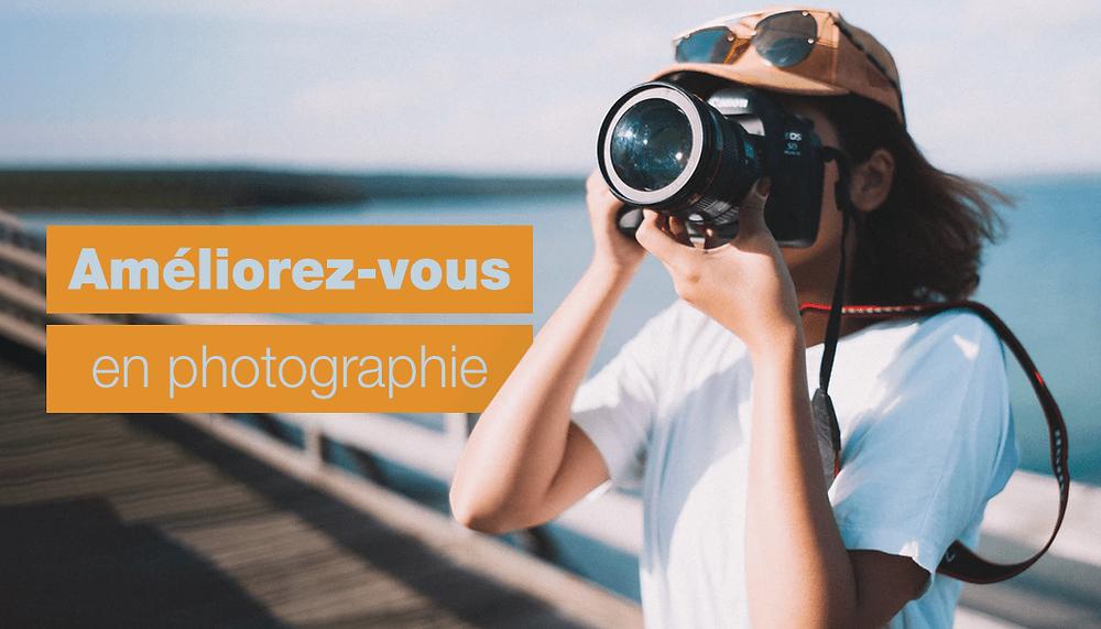 Créer un site de photographie, image d'une personne prenant une photo avec un appareil professionnel