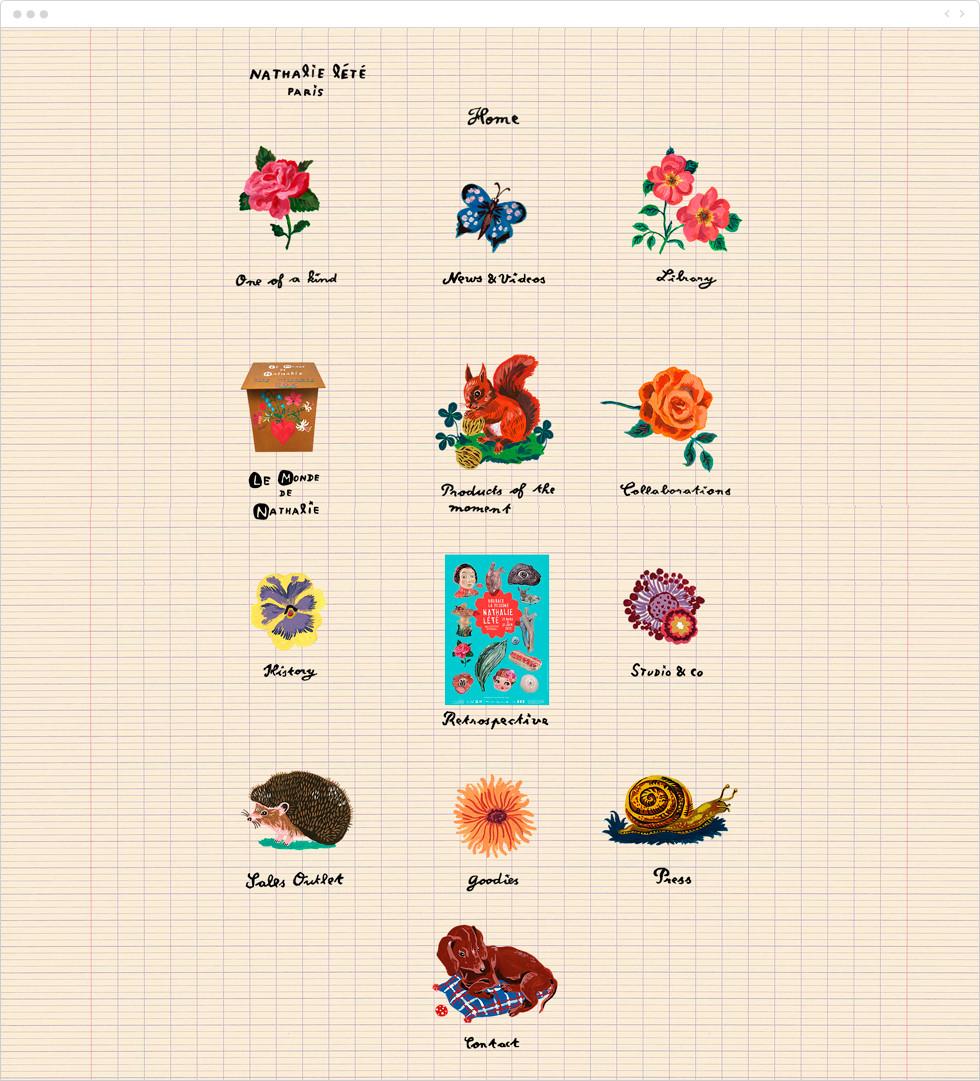 Exemple de portfolio - Nathalie Lété