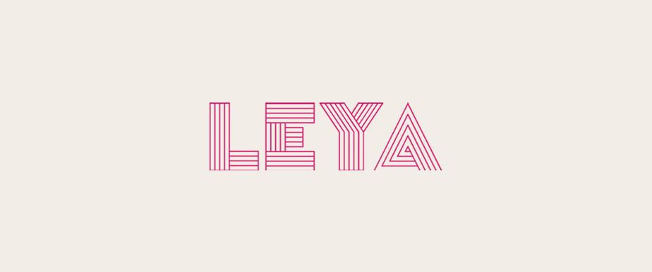 Logo Design von Leya Clothing erstellt mit Wix