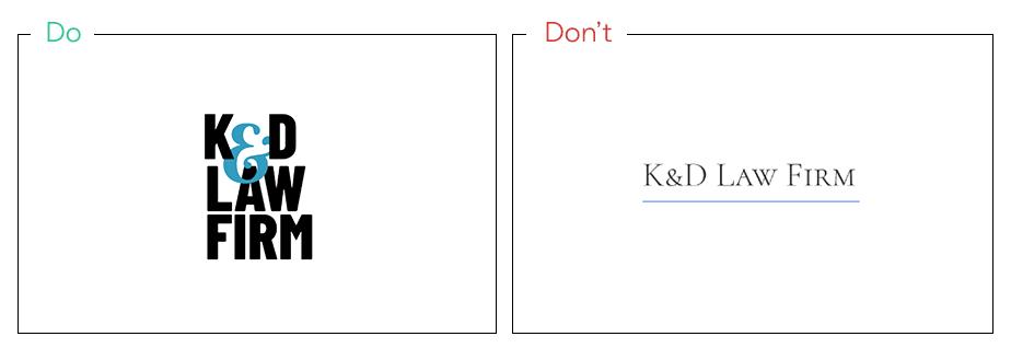 Logo von K&D Law Frim als Beispiel für gute Recherche von Konkurrenz