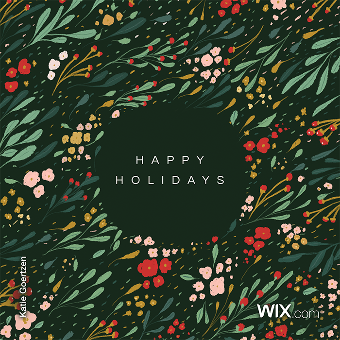 free holiday greeting cards from Katie Goertzen