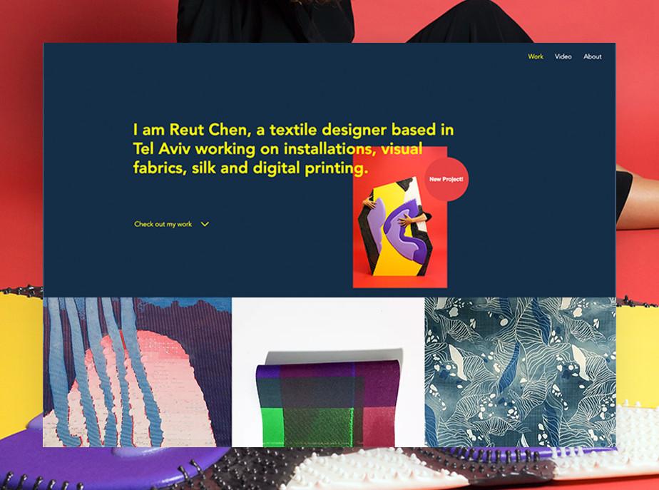 De beste portfolio website: Reut Chen