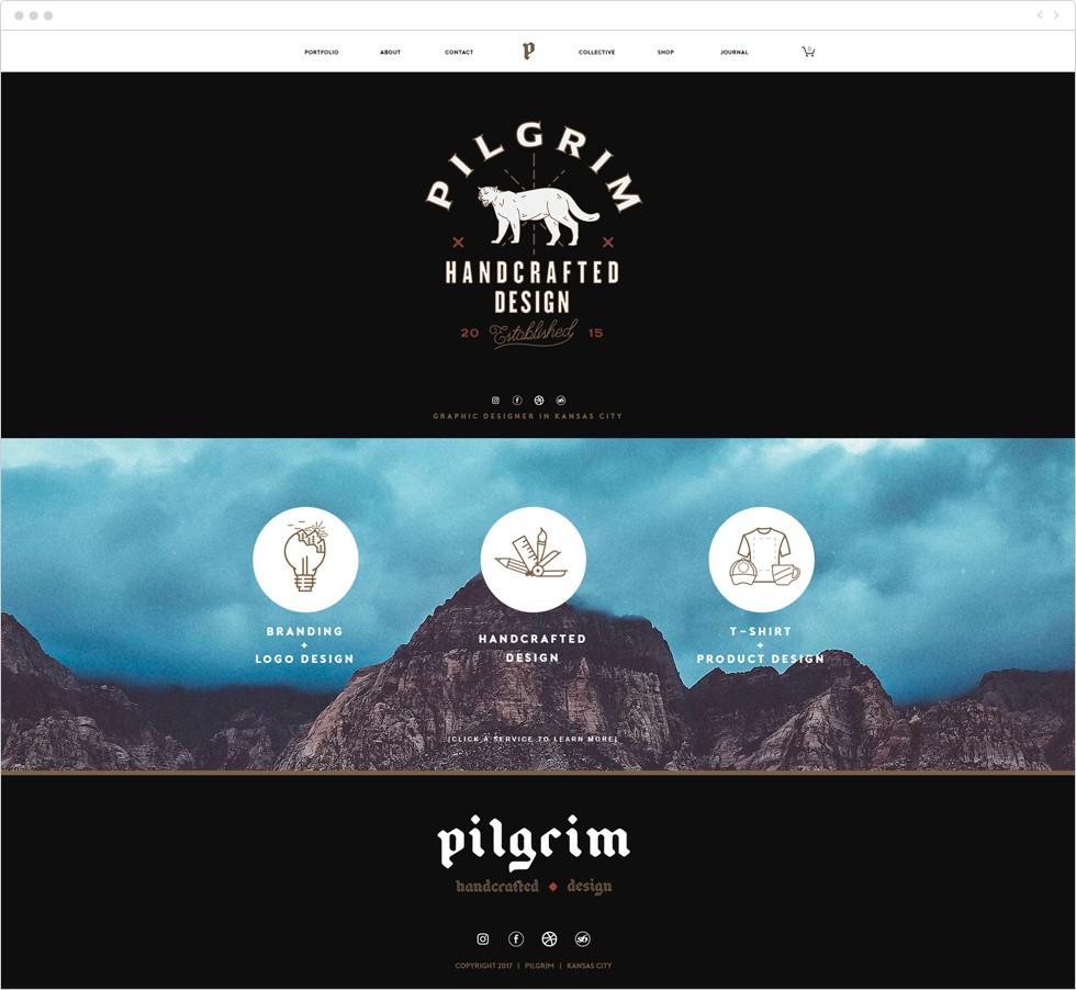 Designer porfolio examples: pilgrim creative