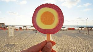 ice cream on the beach