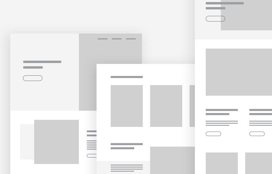 Ansicht verschiedener Website-Layouts als Website-Mockup