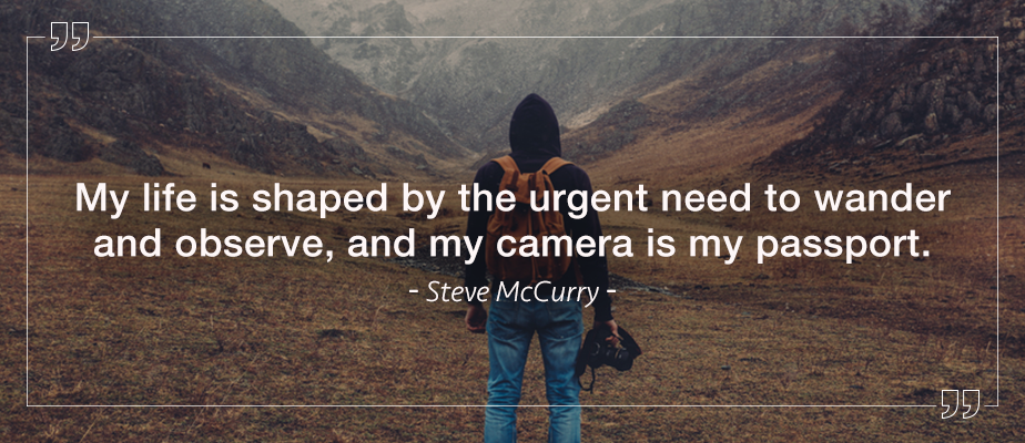 steve mccurry wanderlust photography quote