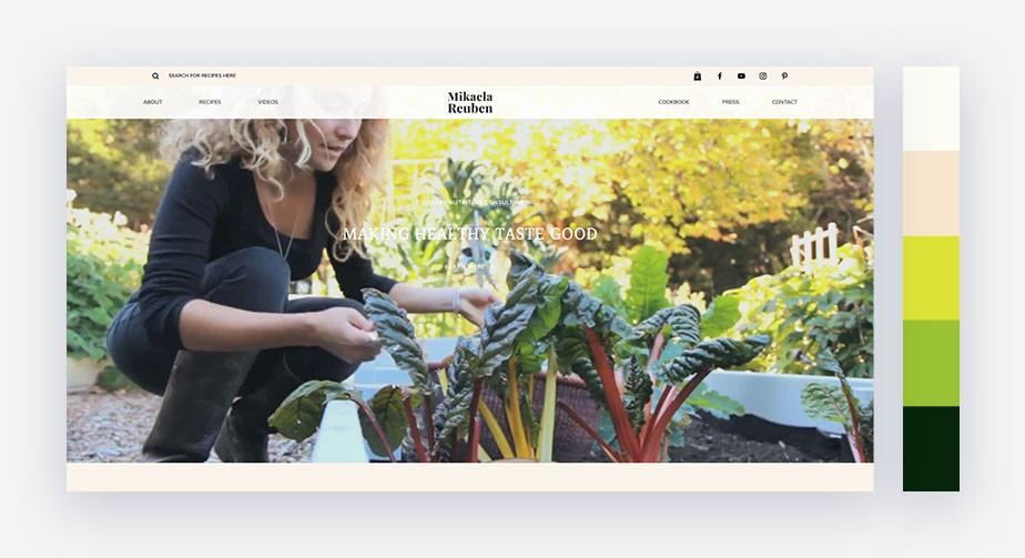 50 paletas de cores para o seu site: tranquila, refrescante e natural