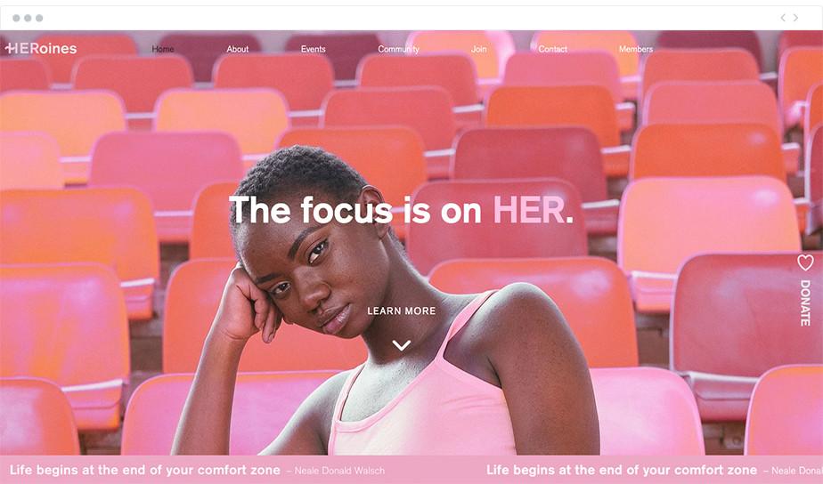HERoines Inc nonprofit website
