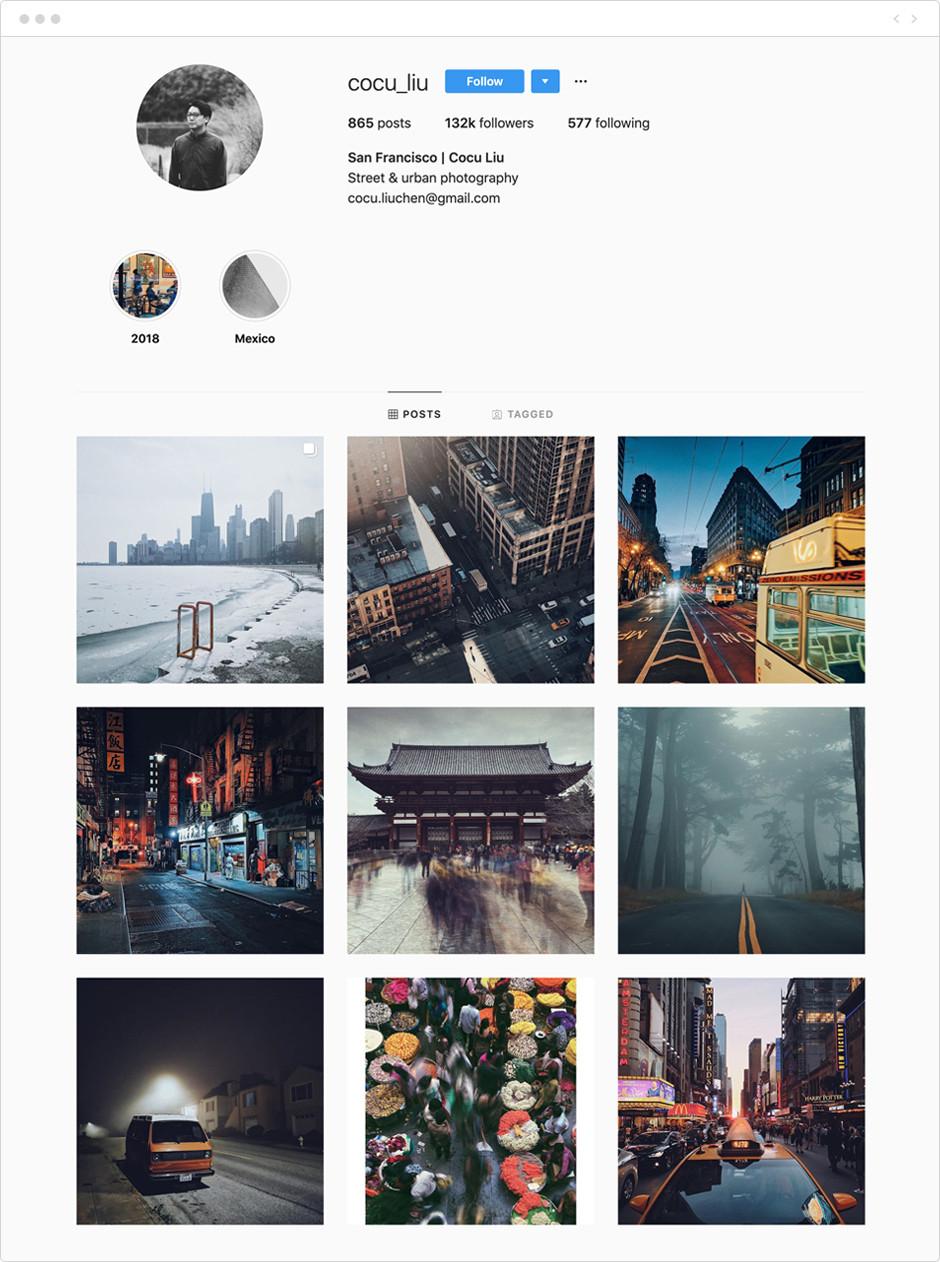 Cocu Liu - Photographes à suivre sur Instagram