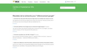 Résultats de la recherche pour référencement google l Assistance Wix.com