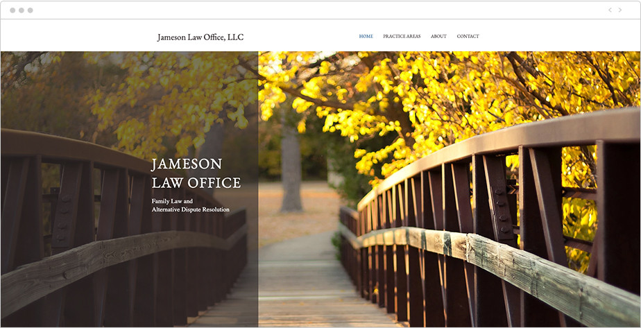 Best law firm websites Jameson Law Office