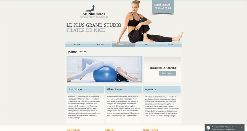 template vidéos en ligne de fitness