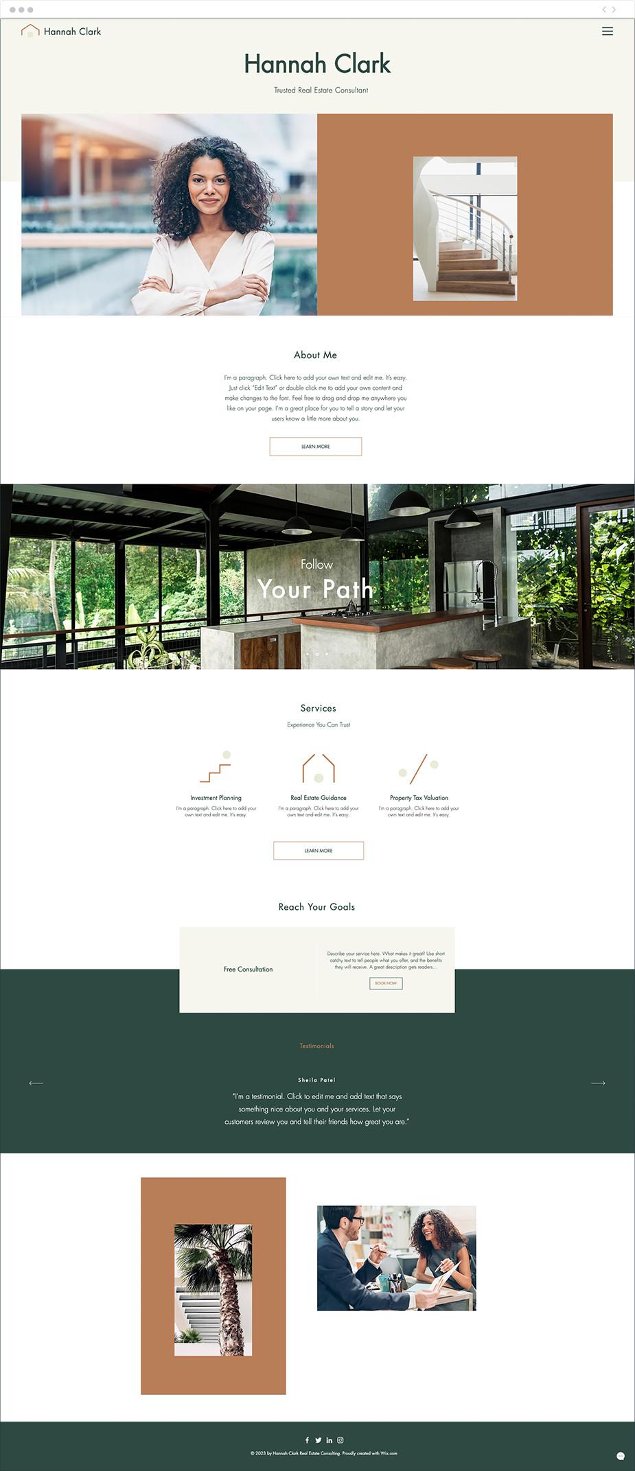 Template sito web per consulente immobiliare
