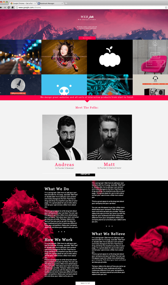 Шаблон «Студия веб-дизайна»