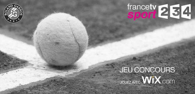 Gagnez vos places pour la finale de Roland-Garros avec Wix !
