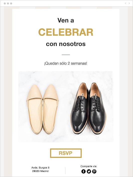 Ejemplo de email enviado a los invitados de una boda