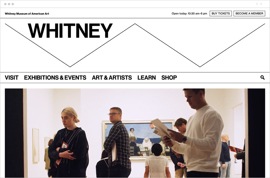 Best homepage design Whitney Museum