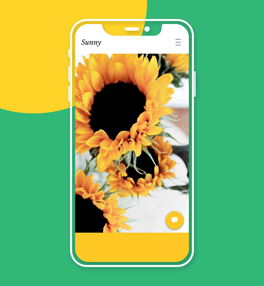 Exemple design mobile : Sunny