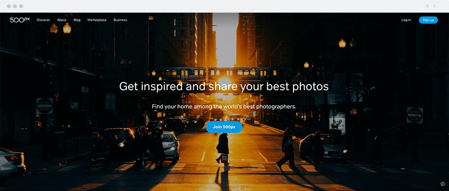 Stocker vos images gratuitement 500px