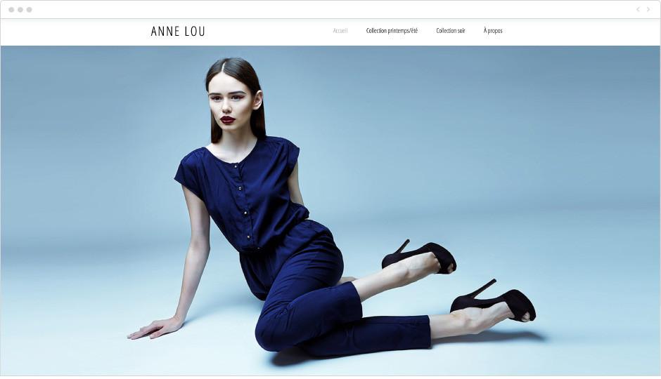 Template pour un site de mode
