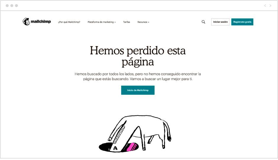Página 404 de Mailchimp