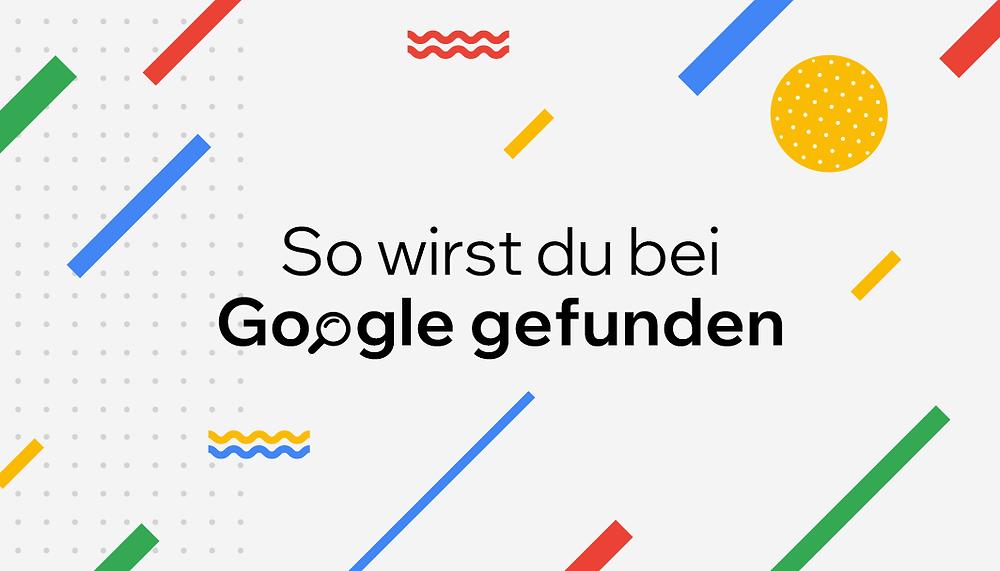 Featured Image von Wix mit Schriftzug: So wirst du bei Google gefunden