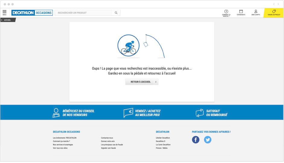 Decathlon - page erreur 404
