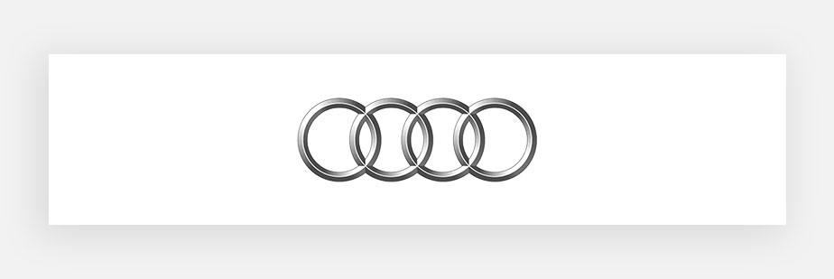 Примеры известных логотипов: Audi