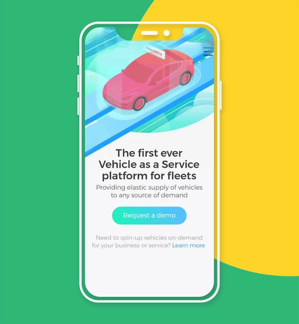 Sito web mobile AutoFleet