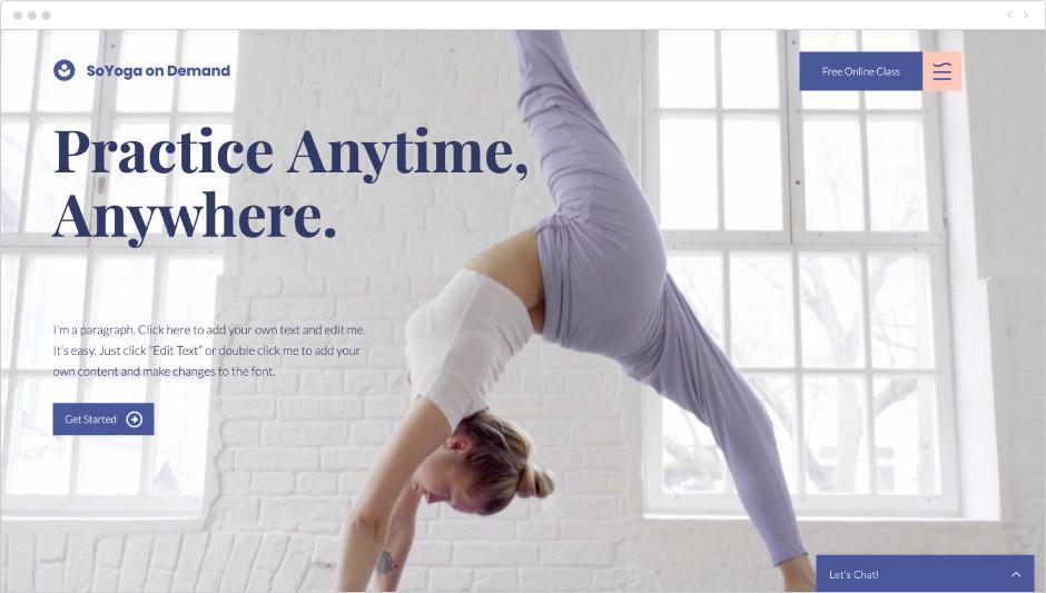 Yoga on demand template