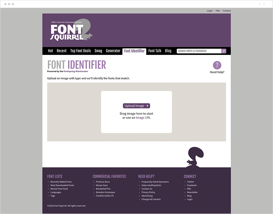 Plataforma Fonts Squirrel