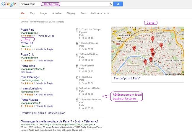 pizza à Paris Recherche Google
