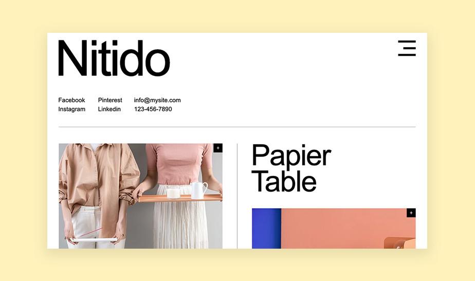 Шаблоны сайта портфолио для творческих профессий: сайт портфолио для студии промышленного дизайна
