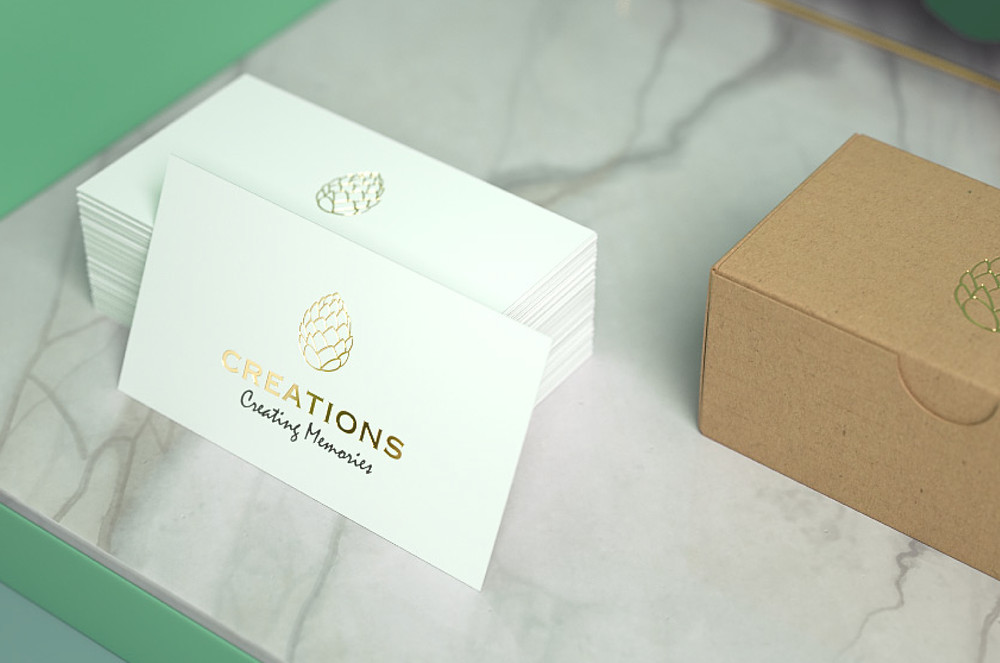 Logo design on business card