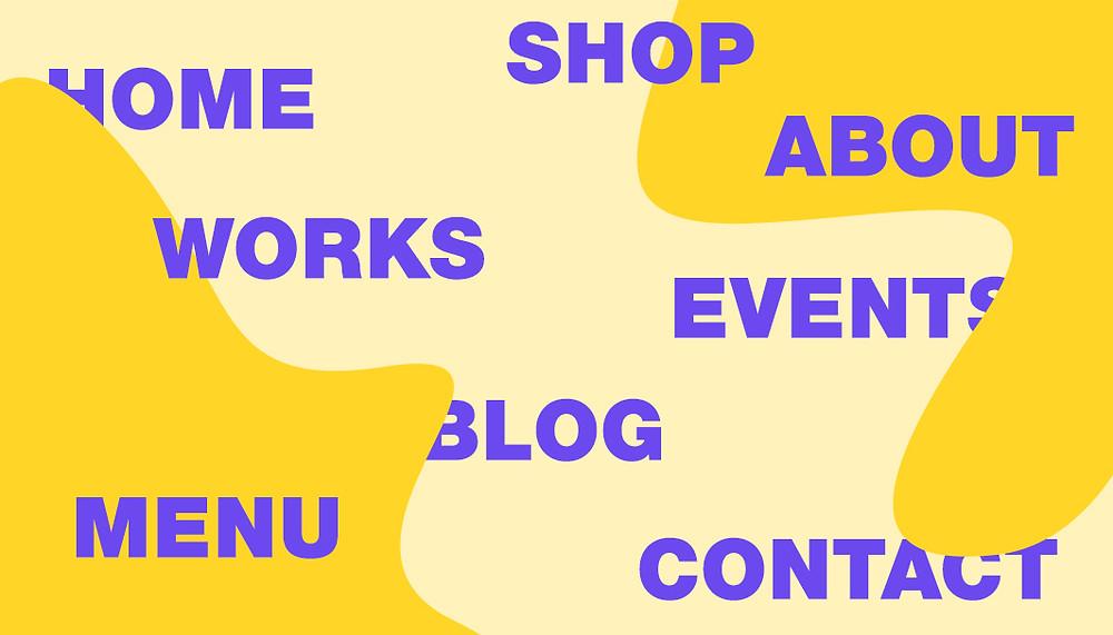 Menu di navigazione per sito web