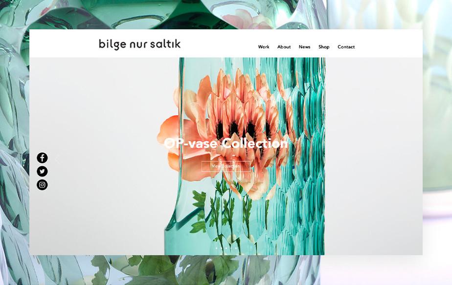 De beste portfolio website: Studio Bilge Nur Saltik