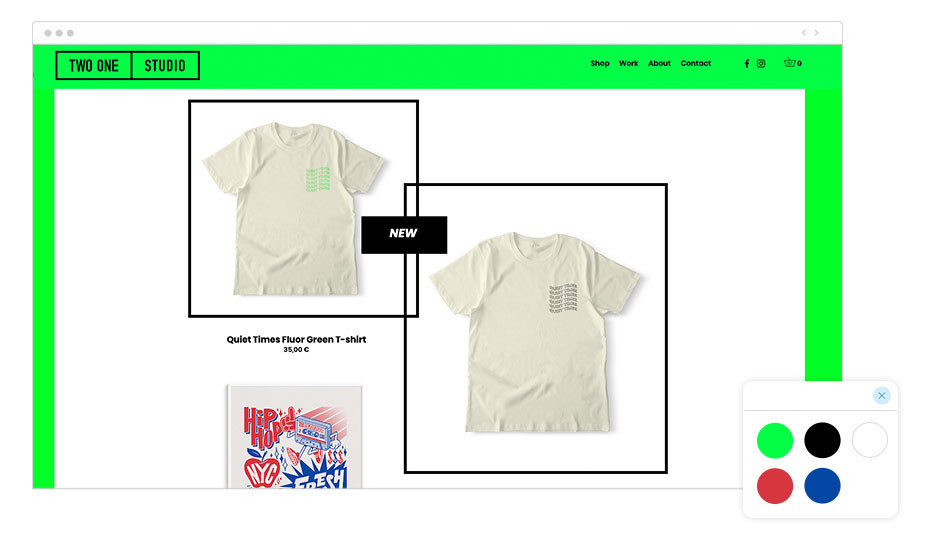 página web  Wix de Two One Studio