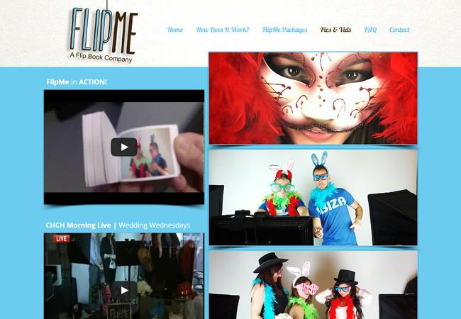 Эффектные фотографии и видеоролики на сайт FlipMe
