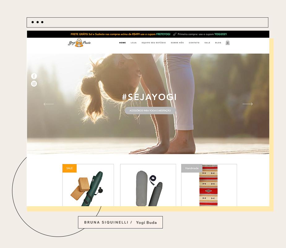 Case de sucesso da loja virtual uma das nossas usuárias empreendedoras: Yogi Buda por Bruna Sequinelli