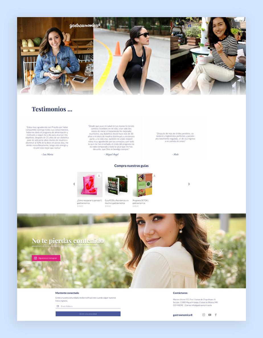 Página web de servicios de Gastrawnomica