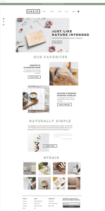 Natural soap and candle store website template