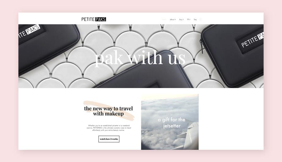 Best website design by Petite Paks