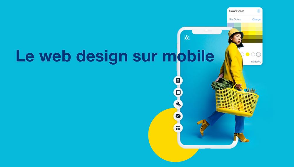 Exemples de web design sur mobile