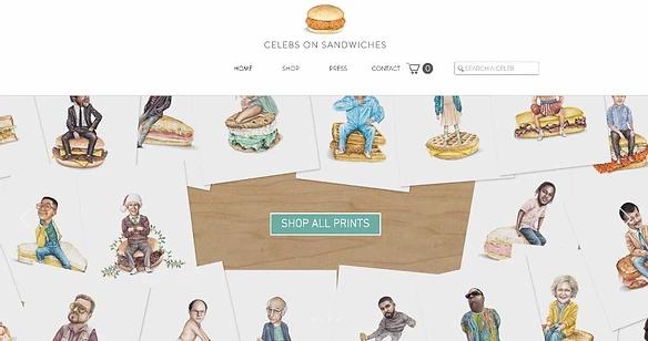Главная страница сайта Celebs on Sandwiches