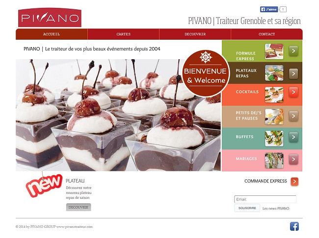 Newsletter du traiteur Pivano