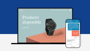 Imagen de reloj en tienda online
